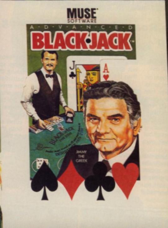 Face avant du boxart du jeu Advanced Blackjack (Etats-Unis) sur Apple II