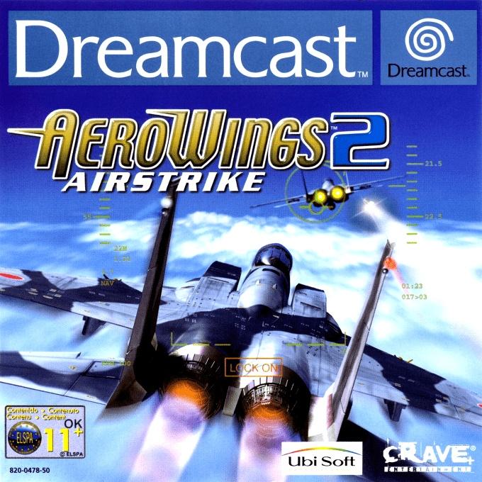 Face avant du boxart du jeu AeroWings 2 - Airstrike (Europe) sur Sega Dreamcast
