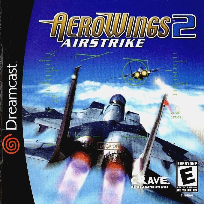 Face avant du boxart du jeu AeroWings 2 - Airstrike (Etats-Unis) sur Sega Dreamcast