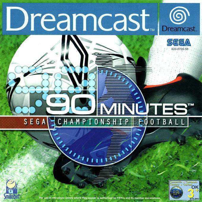 Face avant du boxart du jeu 90 Minutes - Sega Championship Football (Europe) sur Sega Dreamcast
