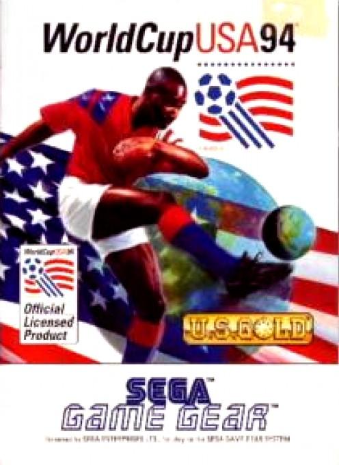Face avant du boxart du jeu World Cup 94 sur Sega Game Gear