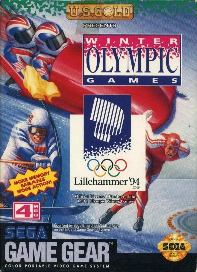 Face avant du boxart du jeu Winter Olympics - Lillehammer '94 (Etats-Unis) sur Sega Game Gear