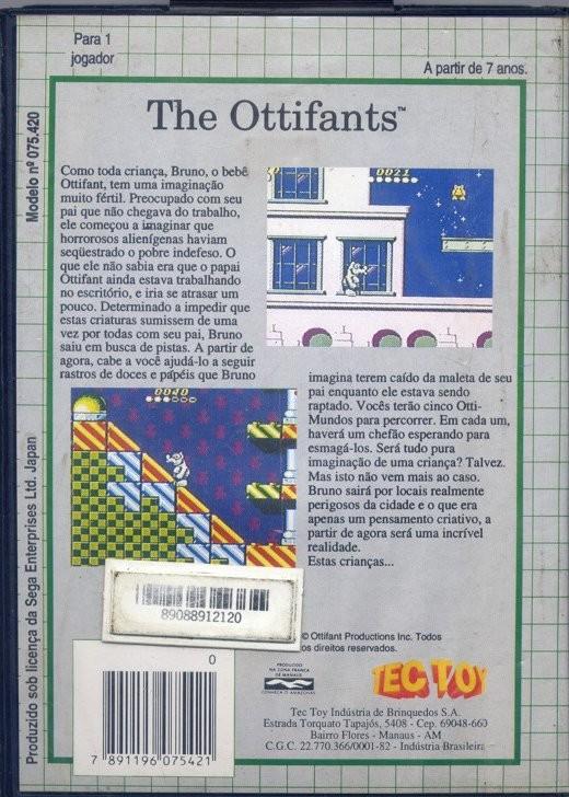 Face arriere du boxart du jeu Ottifants, The (Brésil) sur Sega Game Gear