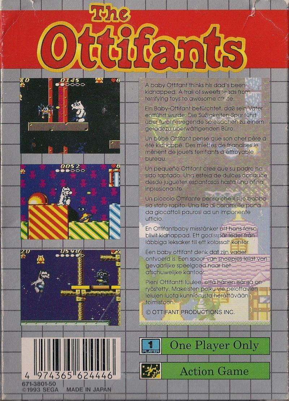 Face arriere du boxart du jeu Ottifants, The (Europe) sur Sega Game Gear