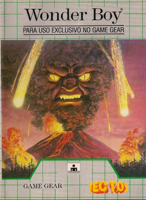 Face avant du boxart du jeu Wonder Boy (Brésil) sur Sega Game Gear