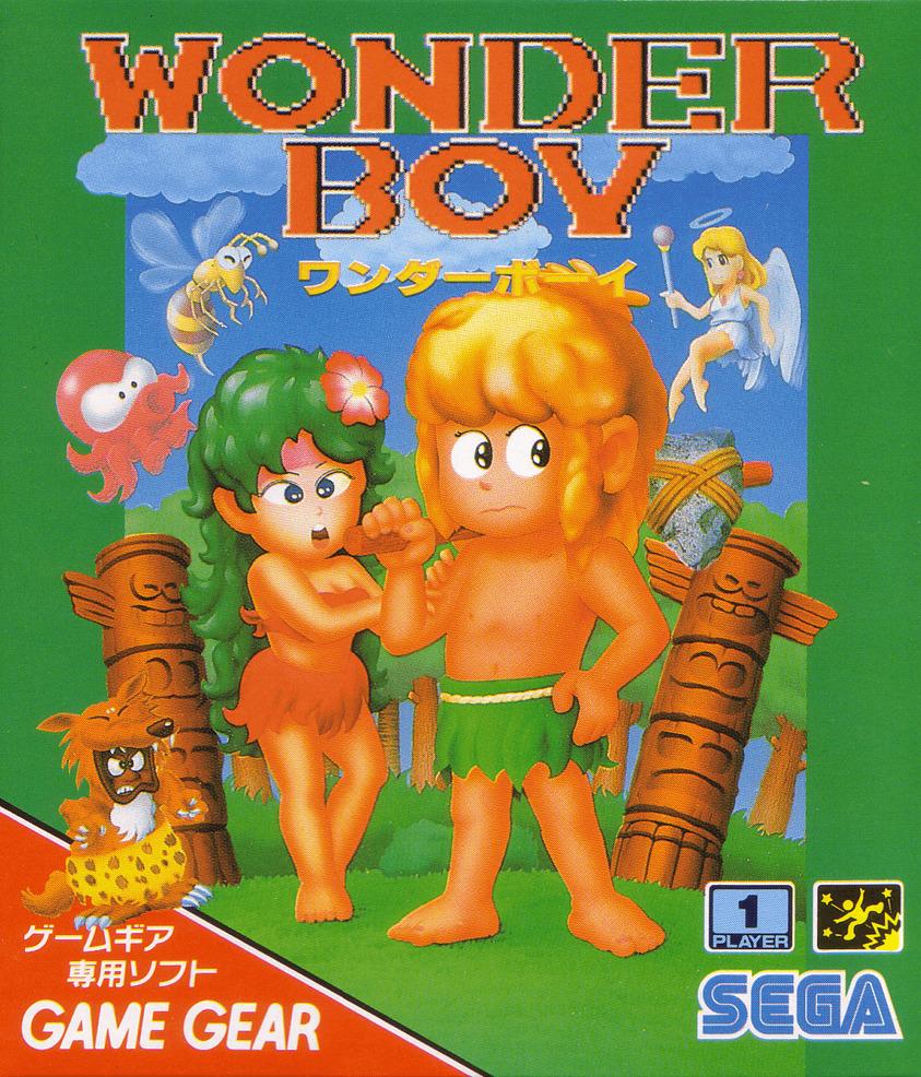 Face avant du boxart du jeu Wonder Boy (Japon) sur Sega Game Gear