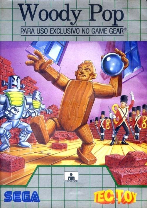 Face avant du boxart du jeu Woody Pop (Brésil) sur Sega Game Gear