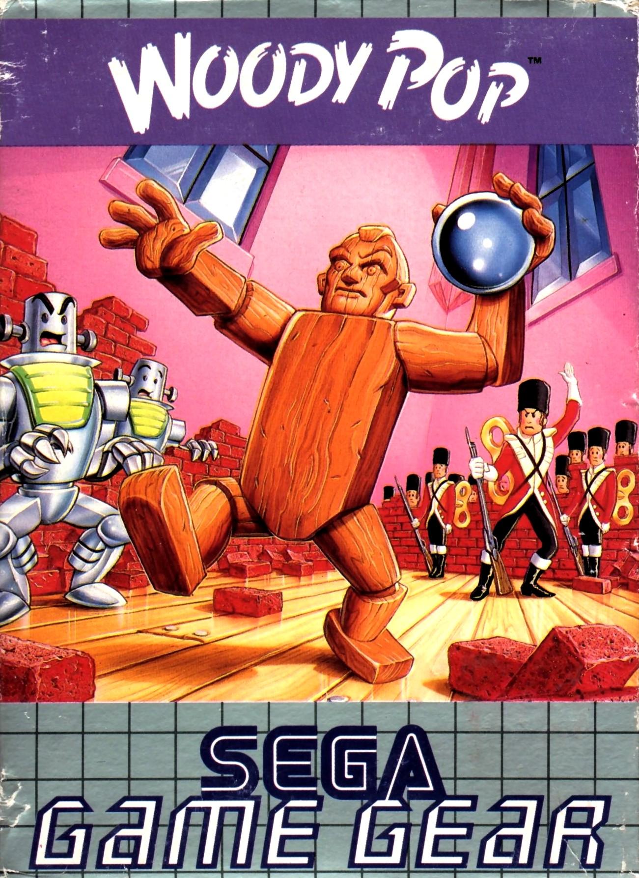 Face avant du boxart du jeu Woody Pop (Europe) sur Sega Game Gear
