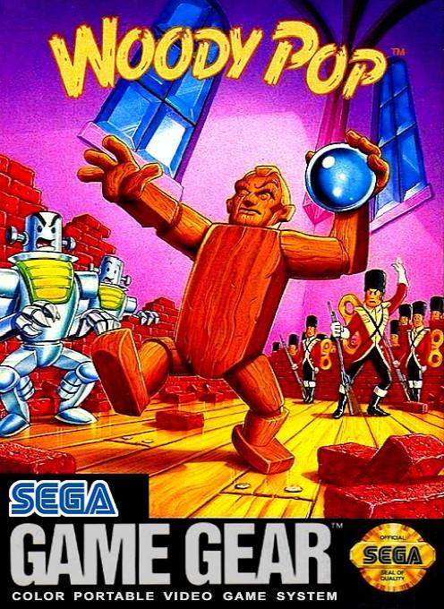 Face avant du boxart du jeu Woody Pop (Etats-Unis) sur Sega Game Gear