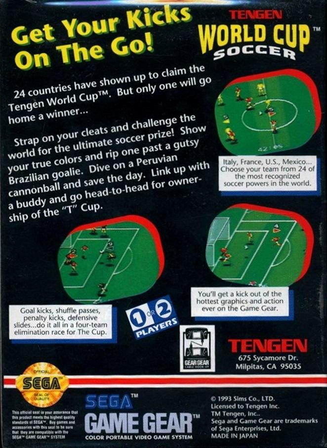 Face arriere du boxart du jeu World Cup Soccer (Etats-Unis) sur Sega Game Gear