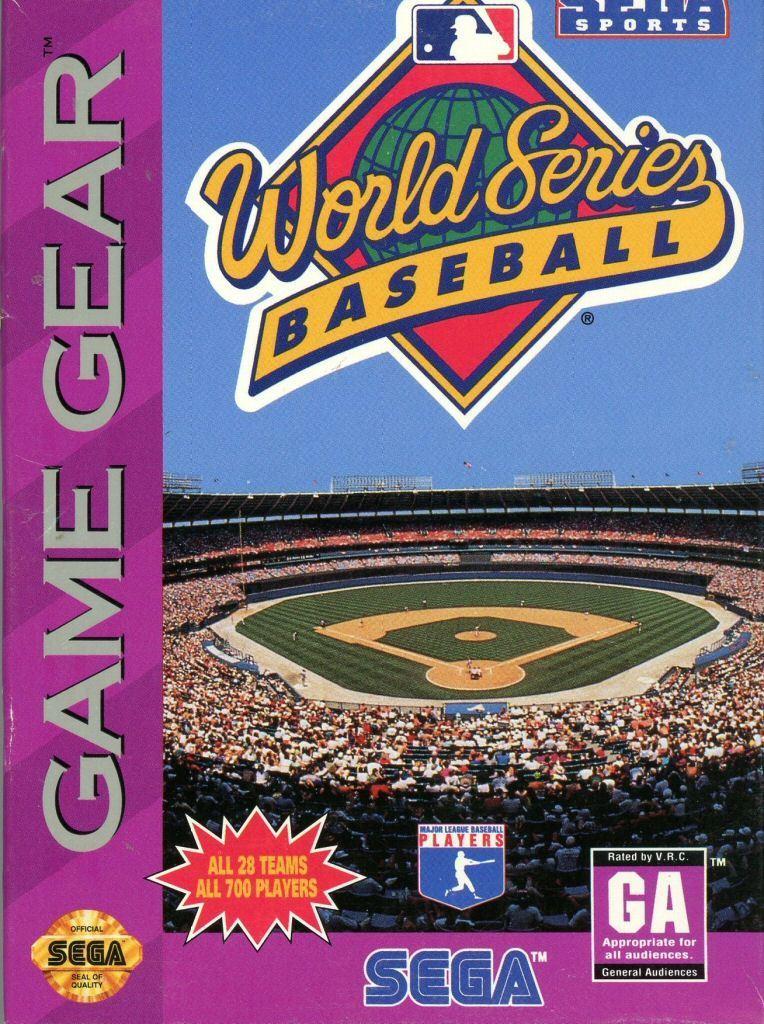 Face avant du boxart du jeu World Series Baseball (Etats-Unis) sur Sega Game Gear