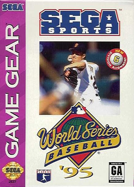 Face avant du boxart du jeu World Series Baseball '95 (Etats-Unis) sur Sega Game Gear