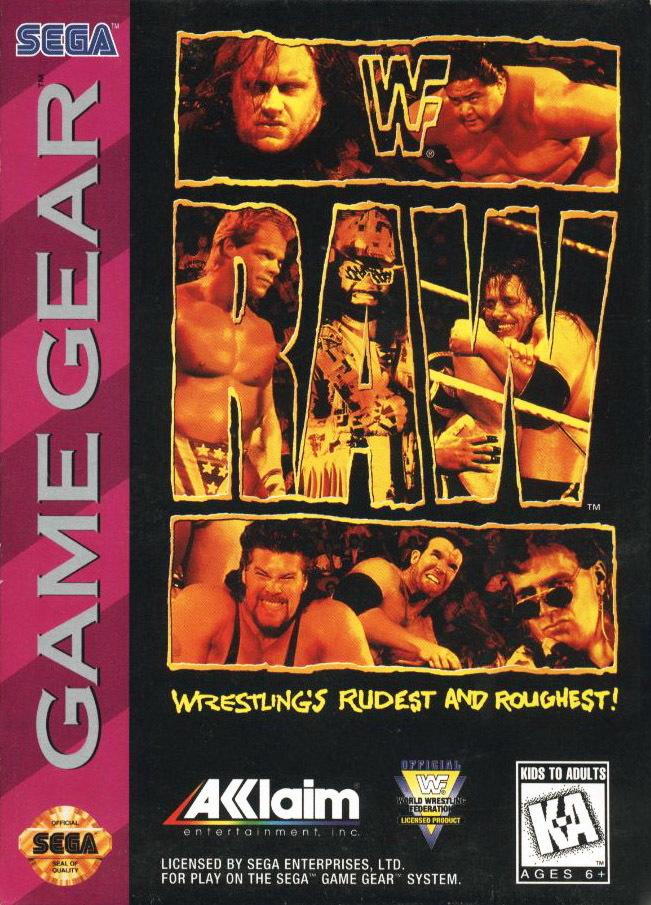 Face avant du boxart du jeu WWF Raw (Etats-Unis) sur Sega Game Gear