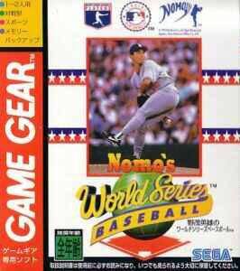 Face avant du boxart du jeu Nomo's World Series Baseball (Japon) sur Sega Game Gear