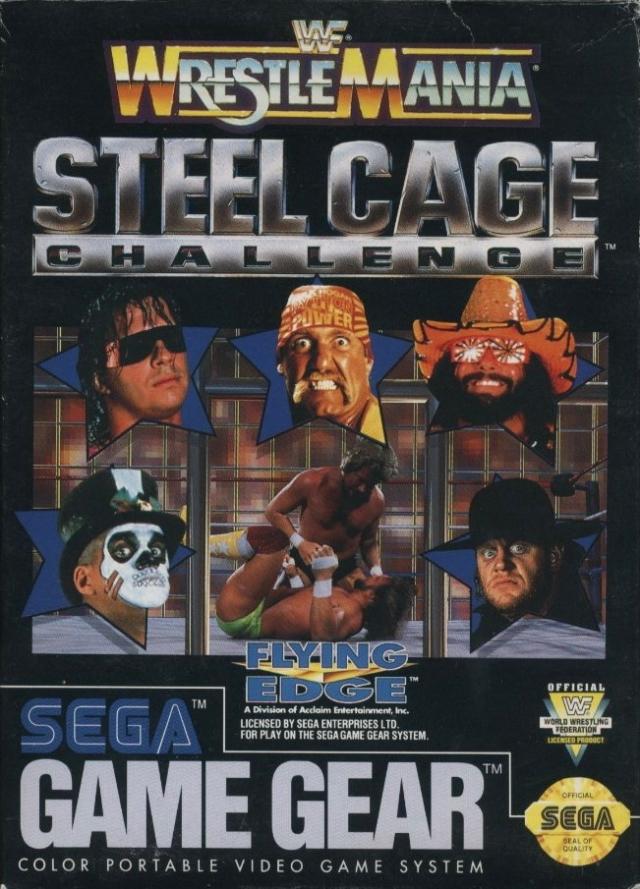 Face avant du boxart du jeu WWF Steel Cage Challenge (Etats-Unis) sur Sega Game Gear