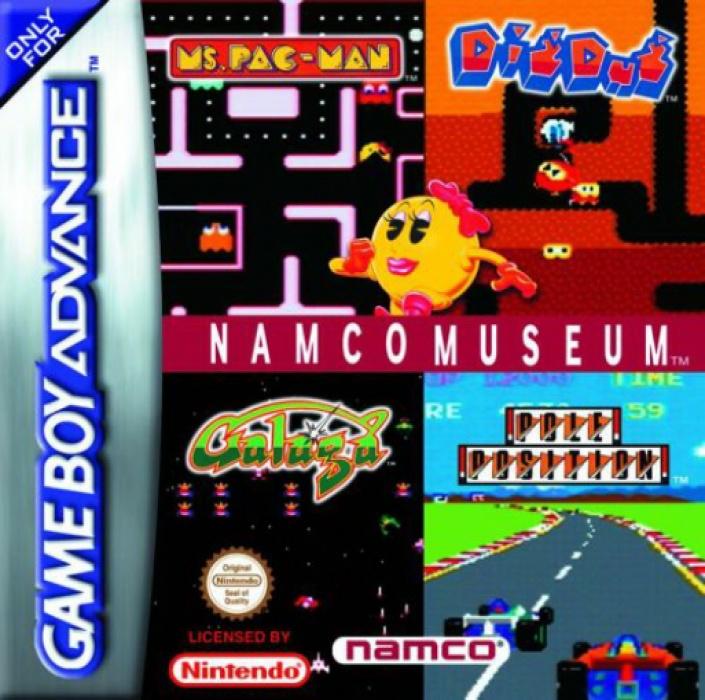 Face avant du boxart du jeu Namco Museum (Europe) sur Nintendo GameBoy Advance