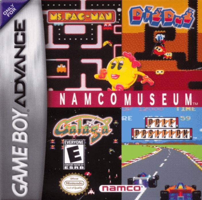 Face avant du boxart du jeu Namco Museum (Etats-Unis) sur Nintendo GameBoy Advance