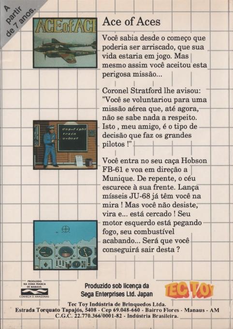 Face arriere du boxart du jeu Ace of Aces (Brésil) sur Sega Master System