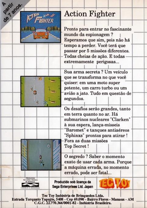 Face arriere du boxart du jeu Action Fighter (Brésil) sur Sega Master System
