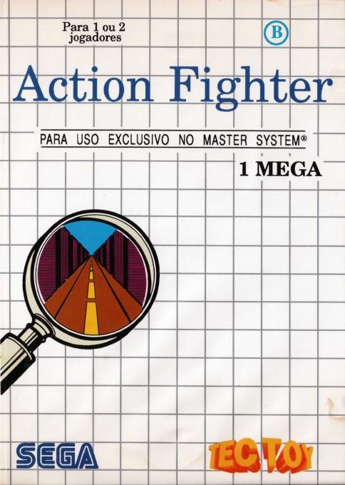 Face avant du boxart du jeu Action Fighter (Brésil) sur Sega Master System