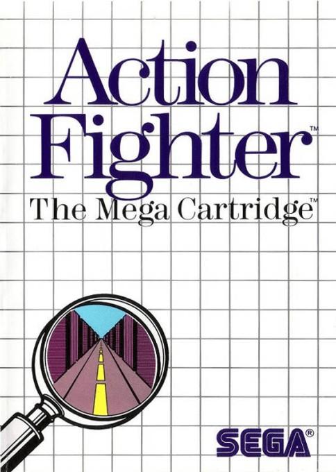 Face avant du boxart du jeu Action Fighter (Etats-Unis) sur Sega Master System