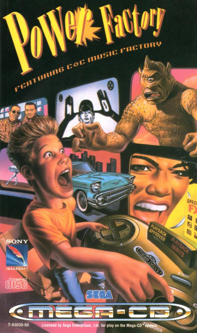 Face avant du boxart du jeu Power Factory Featuring C+C Music Factory (Europe) sur Sega Mega CD