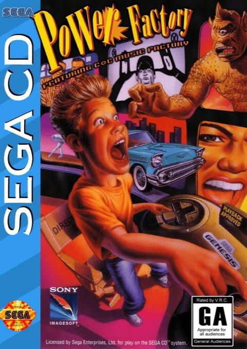 Face avant du boxart du jeu Power Factory Featuring C+C Music Factory (Etats-Unis) sur Sega Mega CD