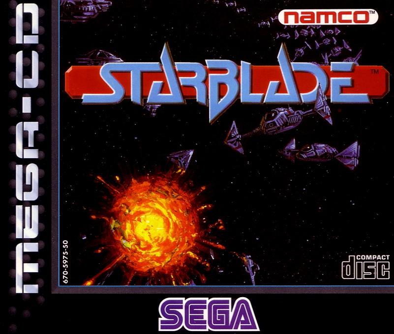 Face avant du boxart du jeu Starblade (Europe) sur Sega Mega CD