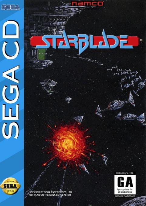 Face avant du boxart du jeu Starblade (Etats-Unis) sur Sega Mega CD