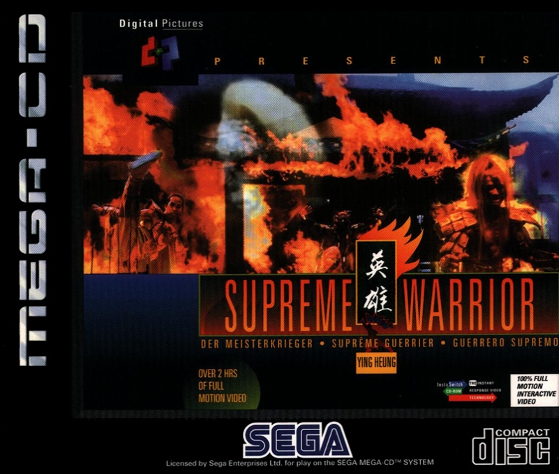 Face avant du boxart du jeu Supreme Warrior (Europe) sur Sega Mega CD