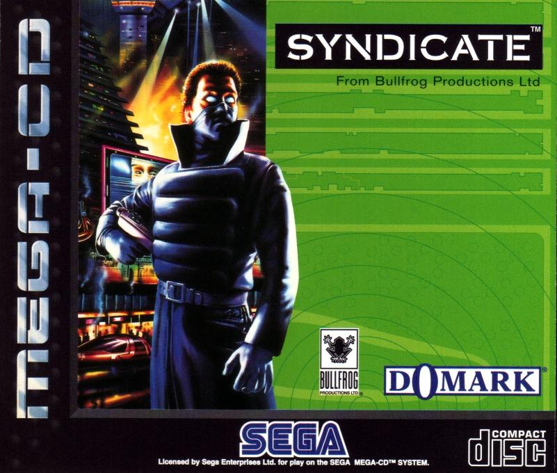Face avant du boxart du jeu Syndicate (Europe) sur Sega Mega CD