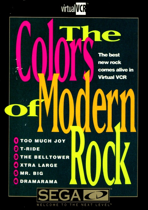 Face avant du boxart du jeu The Colors of Modern Rock (Etats-Unis) sur Sega Mega CD