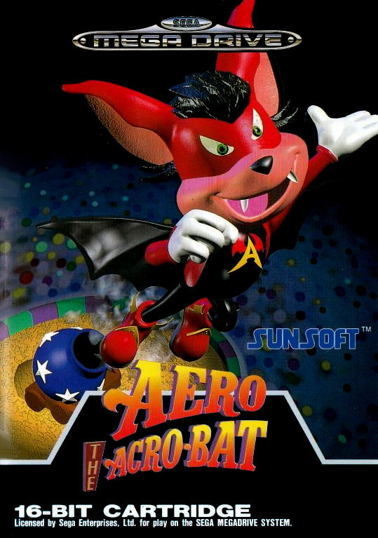 Face avant du boxart du jeu Aero the Acro-Bat (Europe) sur Sega Megadrive