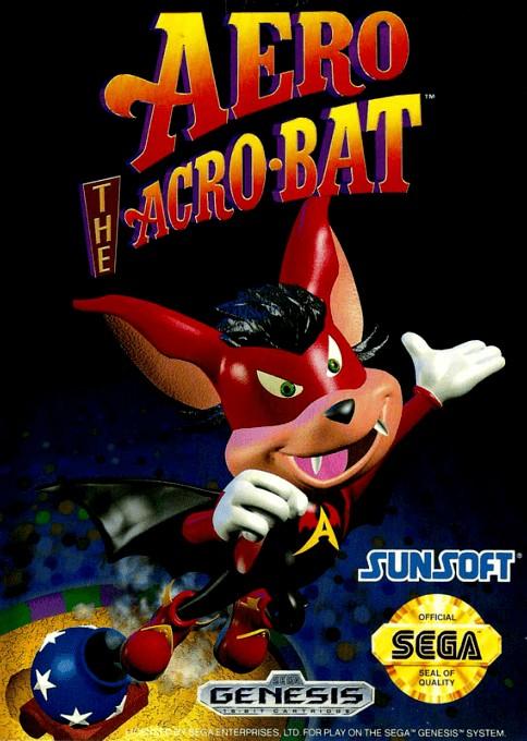 Face avant du boxart du jeu Aero the Acro-Bat (Etats-Unis) sur Sega Megadrive