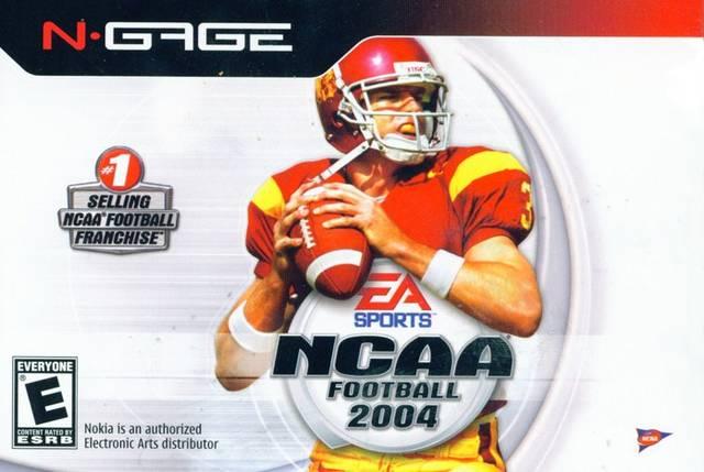 Face avant du boxart du jeu NCAA Football 2004 (Etats-Unis) sur Nokia N-Gage