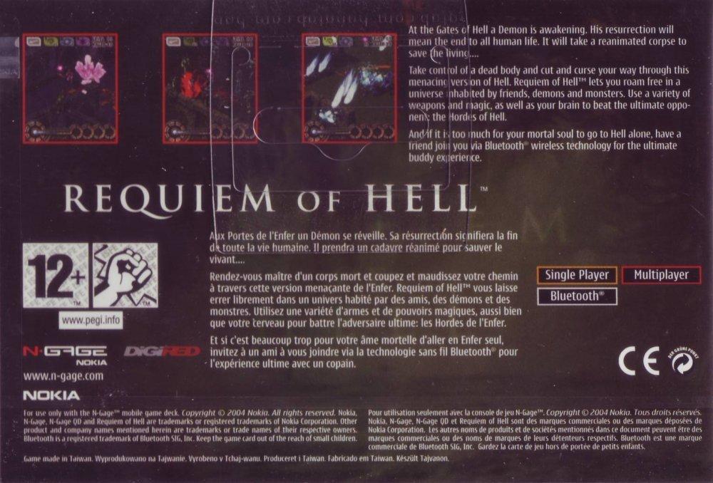 Face arriere du boxart du jeu Requiem of Hell (Europe) sur Nokia N-Gage