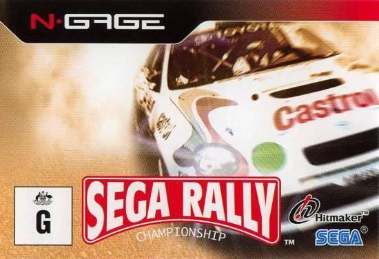Face avant du boxart du jeu Sega Rally Championship (Australie) sur Nokia N-Gage