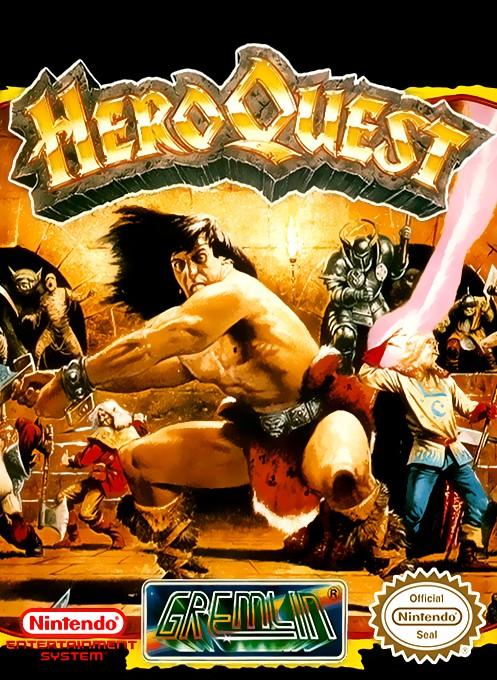 Face avant du boxart du jeu Hero Quest sur Nintendo NES
