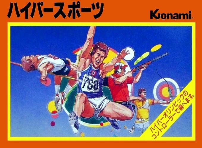 Face avant du boxart du jeu Hyper Sports (Japon) sur Nintendo NES