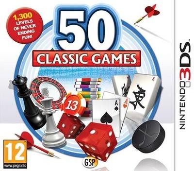 Face avant du boxart du jeu 50 Classic Games (Europe) sur Nintendo 3DS