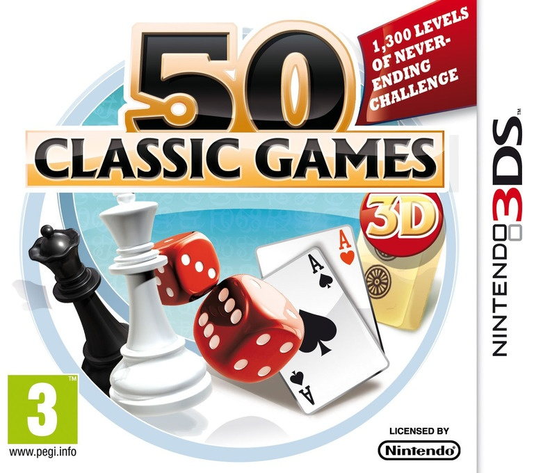 Face avant du boxart du jeu 50 Classic Games 3D (Europe) sur Nintendo 3DS