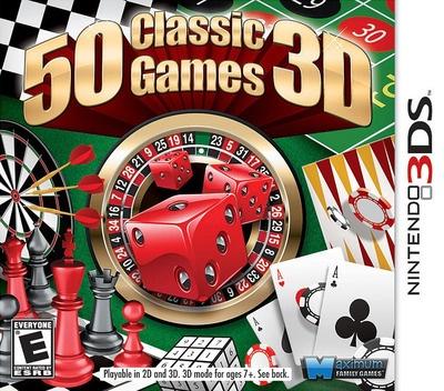 Face avant du boxart du jeu 50 Classic Games 3D (Etats-Unis) sur Nintendo 3DS