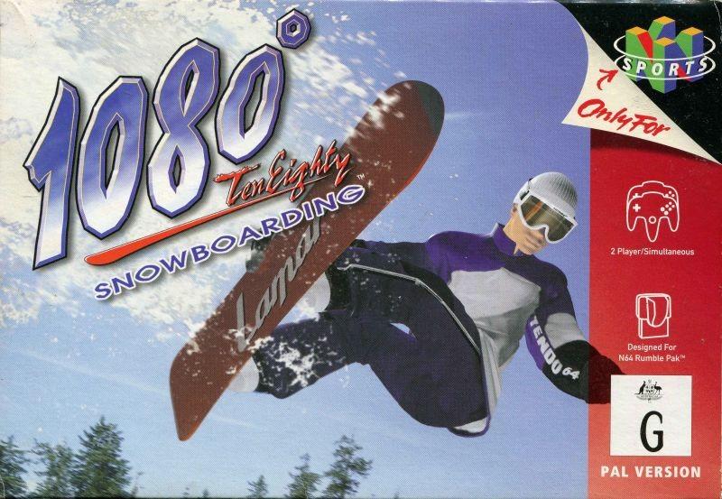Face avant du boxart du jeu 1080 Snowboarding (Australie) sur Nintendo 64