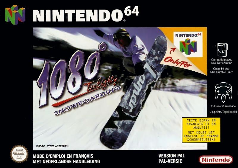 Face avant du boxart du jeu 1080 Snowboarding (Europe) sur Nintendo 64