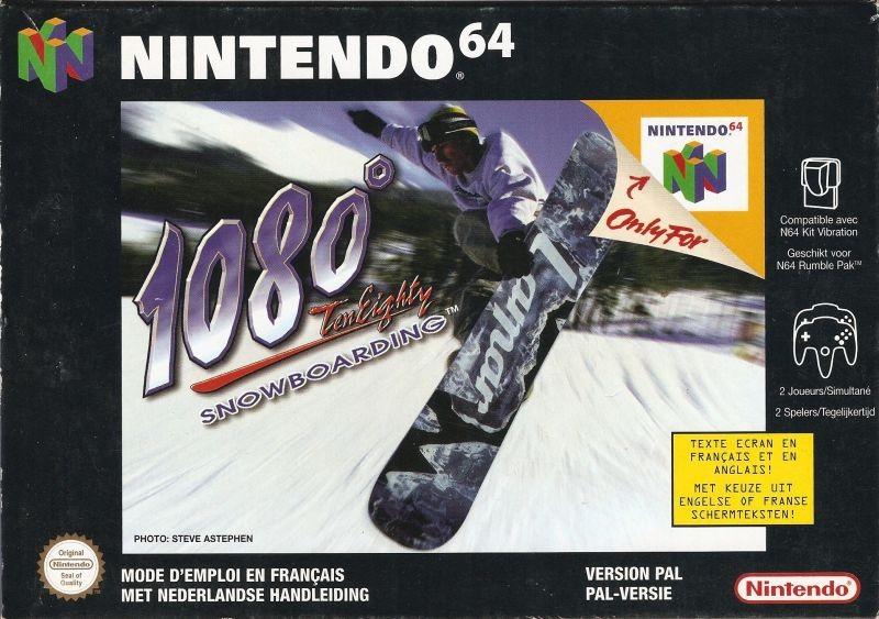 Face avant du boxart du jeu 1080 Snowboarding (France) sur Nintendo 64