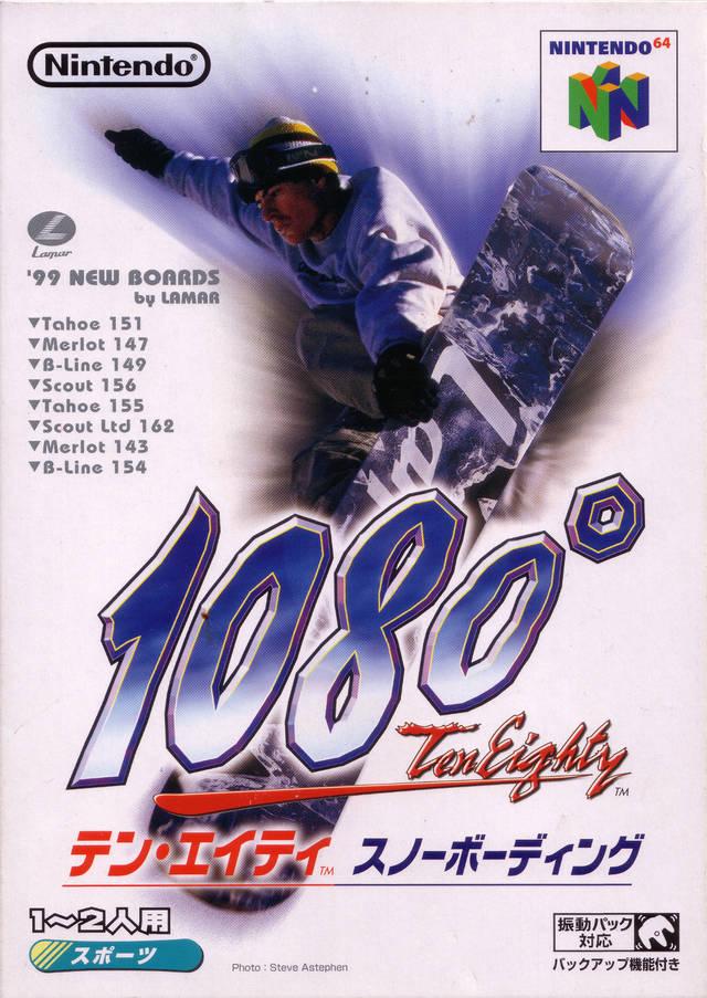 Face avant du boxart du jeu 1080 Snowboarding (Japon) sur Nintendo 64