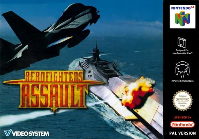 Face avant du boxart du jeu AeroFighters Assault (Europe) sur Nintendo 64