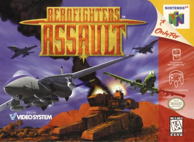 Face avant du boxart du jeu AeroFighters Assault (Etats-Unis) sur Nintendo 64