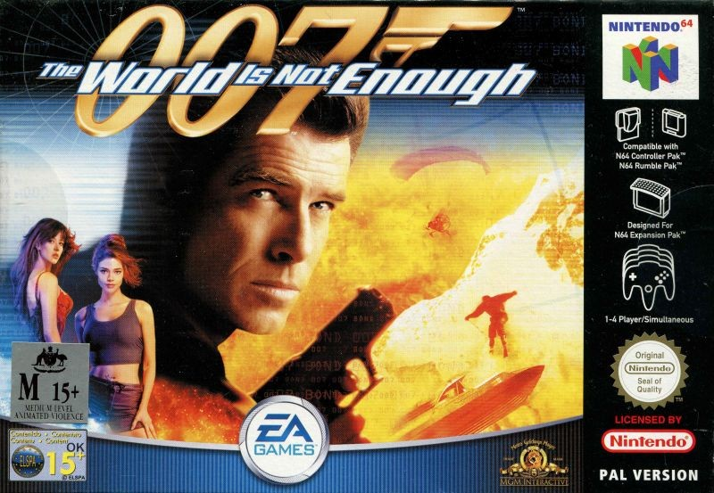 Face avant du boxart du jeu 007 - The World is Not Enough (Australie) sur Nintendo 64
