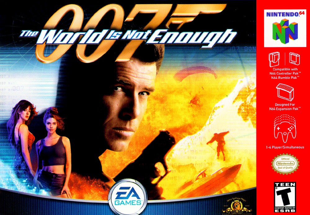 Face avant du boxart du jeu 007 - The World is Not Enough (Etats-Unis) sur Nintendo 64